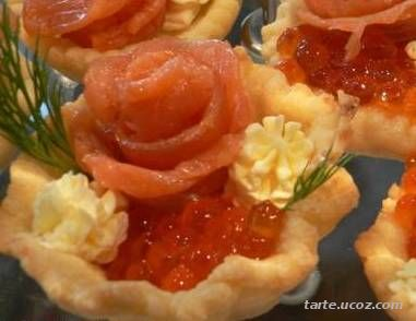 tartlet with caviar