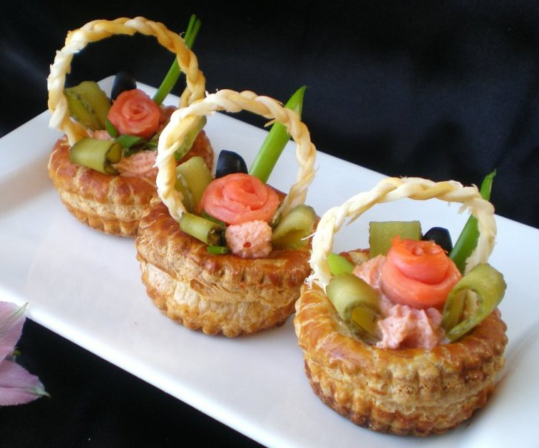 Тарталетки с красной рыбой рецепты с фото